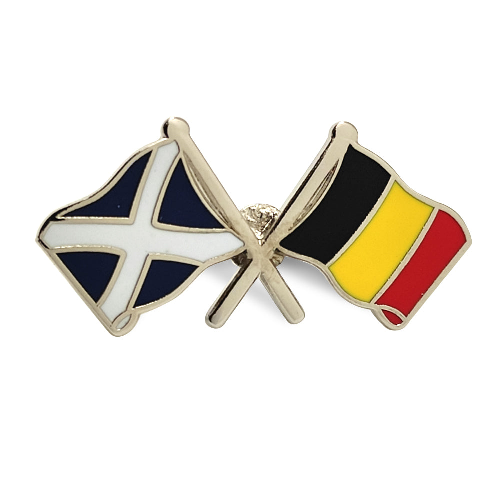 Scotland / Belgium Flag Badge