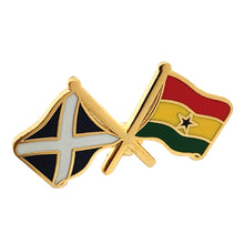 Load image into Gallery viewer, Scot / Ghana Flag Badge