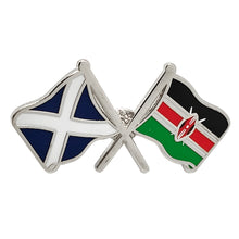 Load image into Gallery viewer, Scot / Kenya Flag Badge