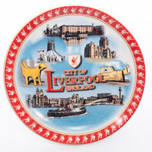 Load image into Gallery viewer, Red Liverpool Decorative Plate with Stand Small