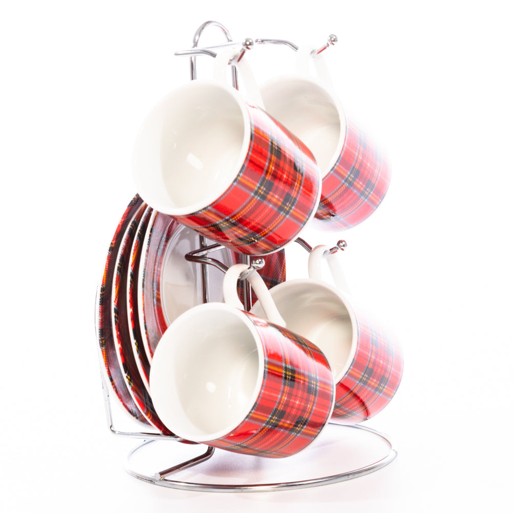 Royal Stewart Set Of 4 Cup & Saucers
