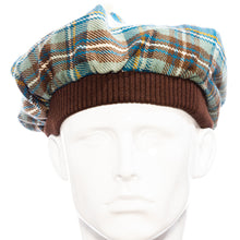 Load image into Gallery viewer, Blue Muted Tartan Tammie Hat Acrylic