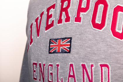 Sweatshirt Liverpool England Grey-Pink Pullover Youth