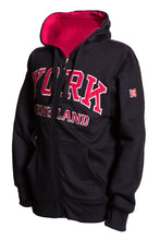 Load image into Gallery viewer, Sweatshirt York England Navy-Pink Zipper Youth - Pridesouvenirs