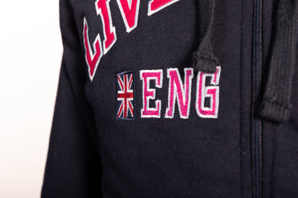 Sweatshirt Liverpool England Navy-Pink Zipper Youth - Pridesouvenirs