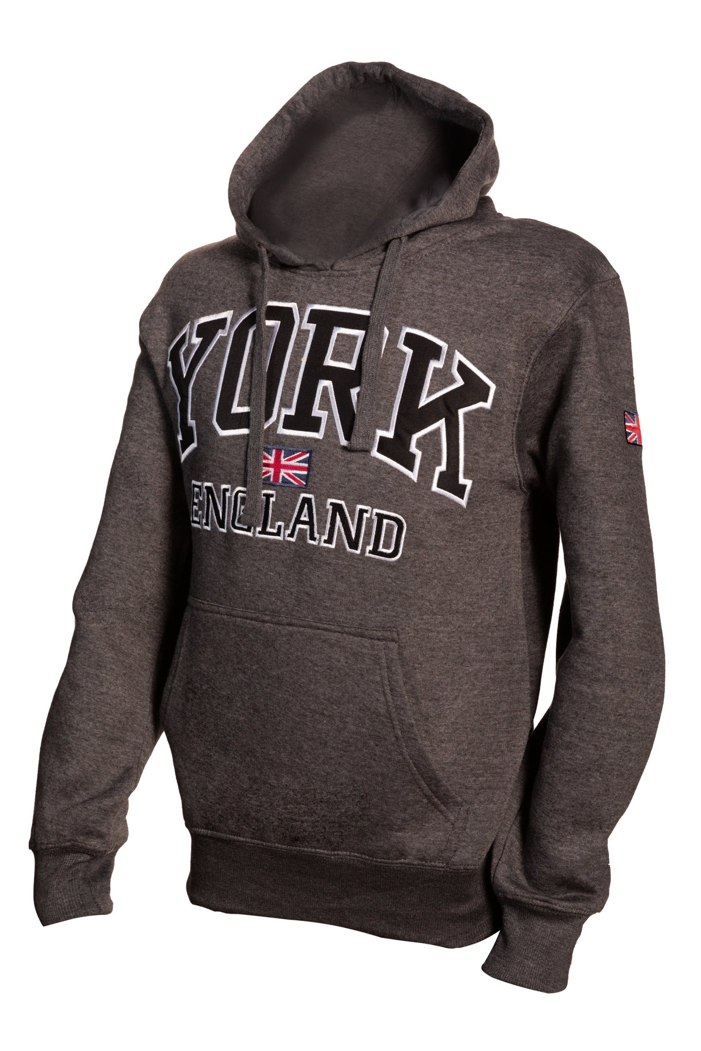 Sweatshirt York England Charcoal-Black Pullover Adult