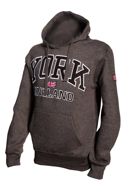 Sweatshirt York England Charcoal-Black Pullover Adult - Pridesouvenirs