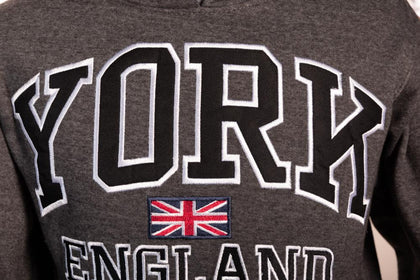 Sweatshirt York England Charcoal-Black Pullover Youth - Pridesouvenirs