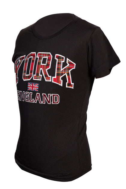 T-Shirt York Embroidered-Black - Pridesouvenirs