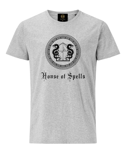 House of Spells Logo T-Shirt- Grey - Pridesouvenirs