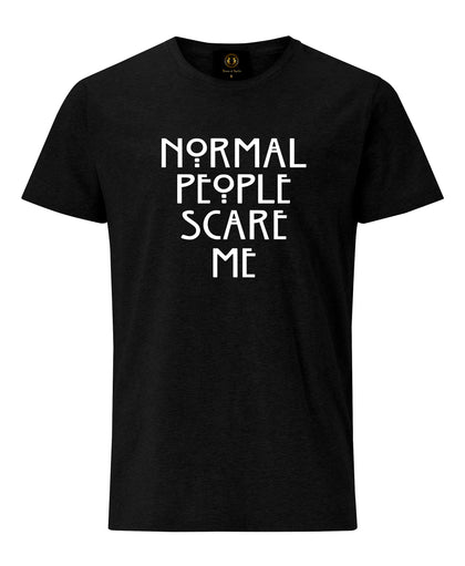 Normal People Scare Me T-shirt - Black