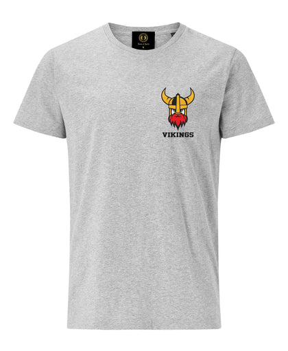 Embroidered Viking Helmet T-Shirt- Grey - Pridesouvenirs