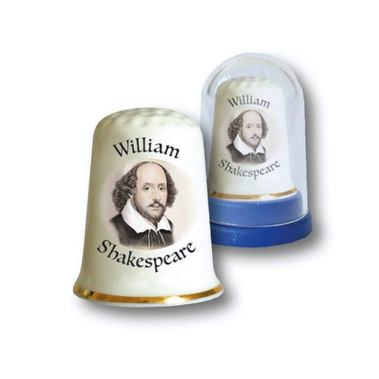 SHAKESPEARE BOXED BONE CHINA THIMBLE - britishsouvenirs