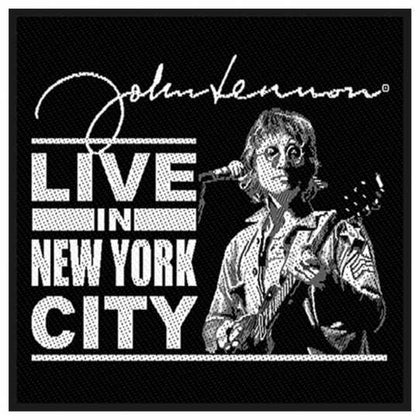 John Lennon Standard Woven Patch: Live in New York City