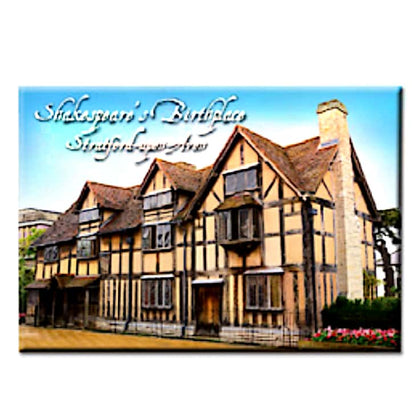 STRATFORD UPON AVON SHAKESPEARE BIRTHPLACE TIN PLATE MAGNET - Pridesouvenirs