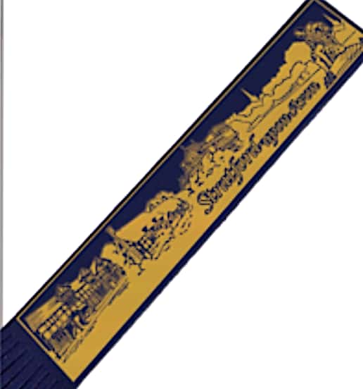 STRATFORD UPON AVON SKYLINE LEATHER BOOKMARK