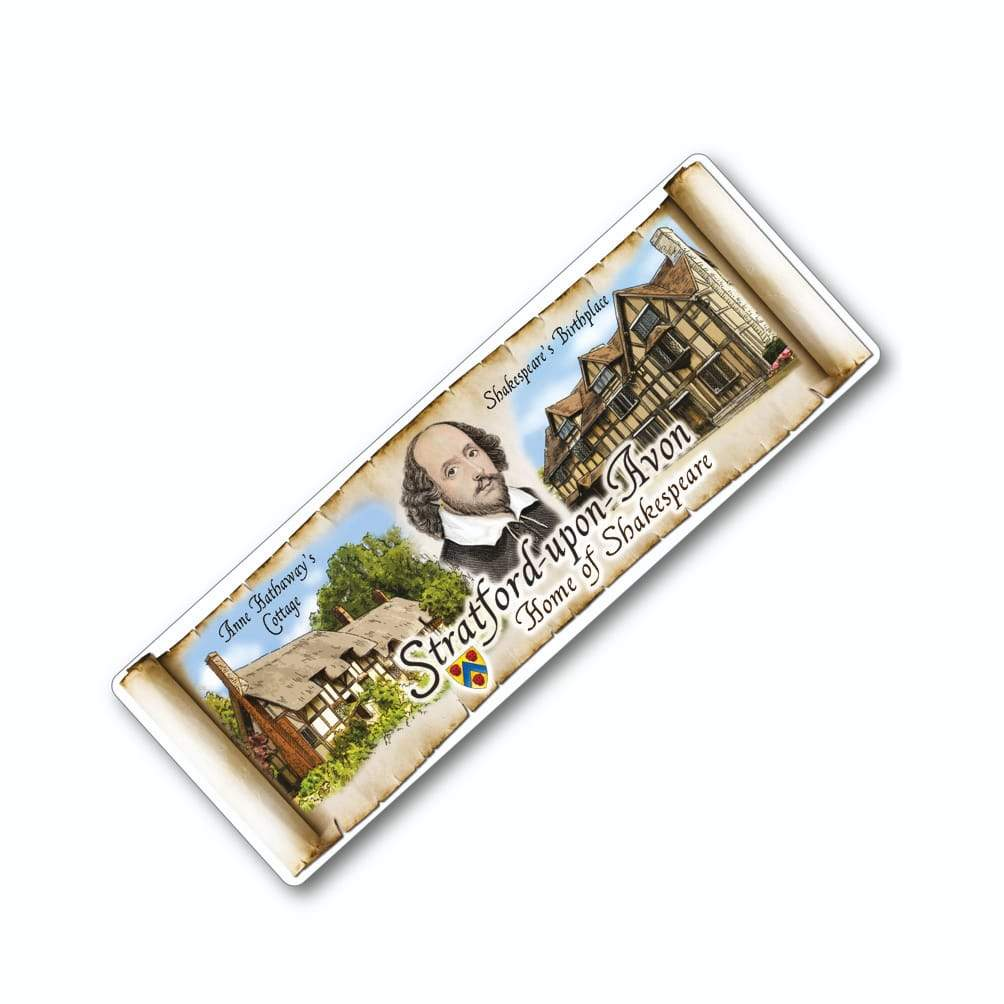 STRATFORD UPON AVON SCENES PANORAMIC TIN PLATE MAGNET