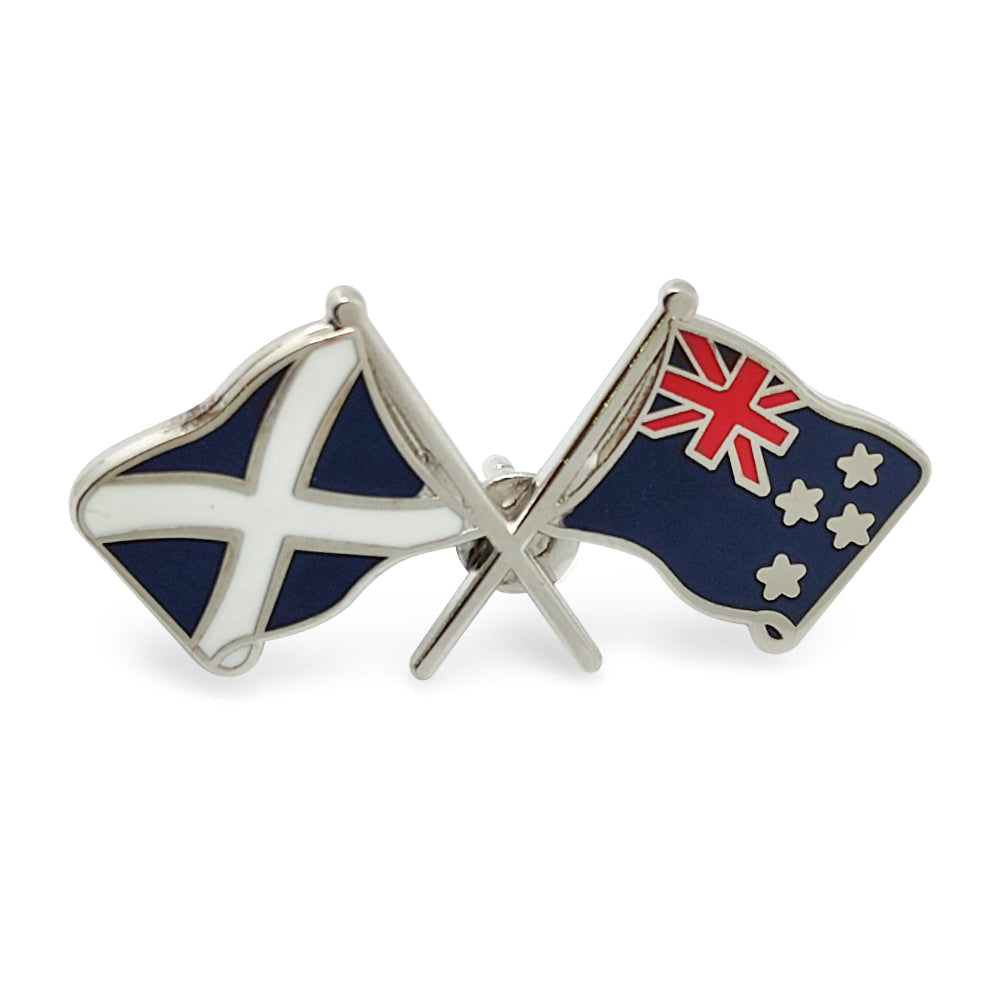 Scot / New Zealand Flag Badge