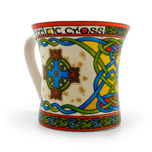 Load image into Gallery viewer, Celtic Cross China Mug-Celtic Weave
