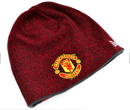 MAN UTD NEW ERA REVERSIBLE KNIT - Pridesouvenirs