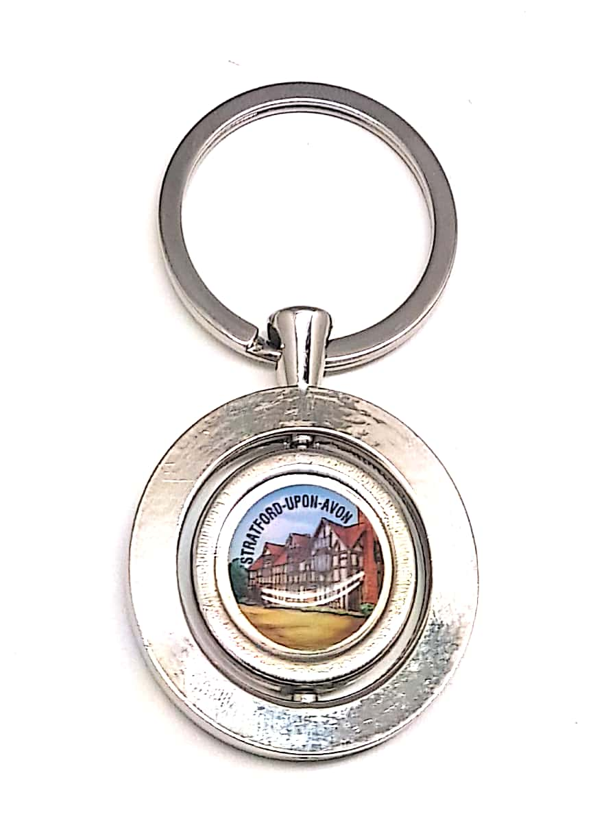 Shakespeare Union Jack Spinner Keyring