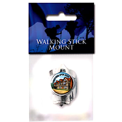 Shakespeare's Birthplace Cameo Walking Stick Mount - britishsouvenir