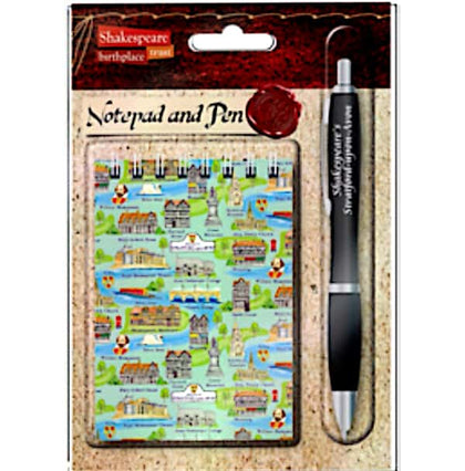 Stratford Upon Avon Icons Notepad and Pen Set - Britishsouvenir
