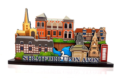 Stratford Upon Avon Wood Shelf Ornament - Britishsouvenir