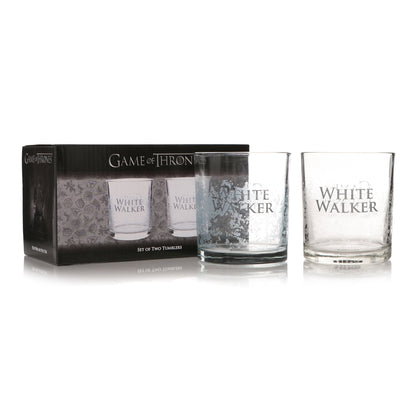 Game of Thrones 2 Glass Tumblers set - White Walker GOT - Pridesouvenirs
