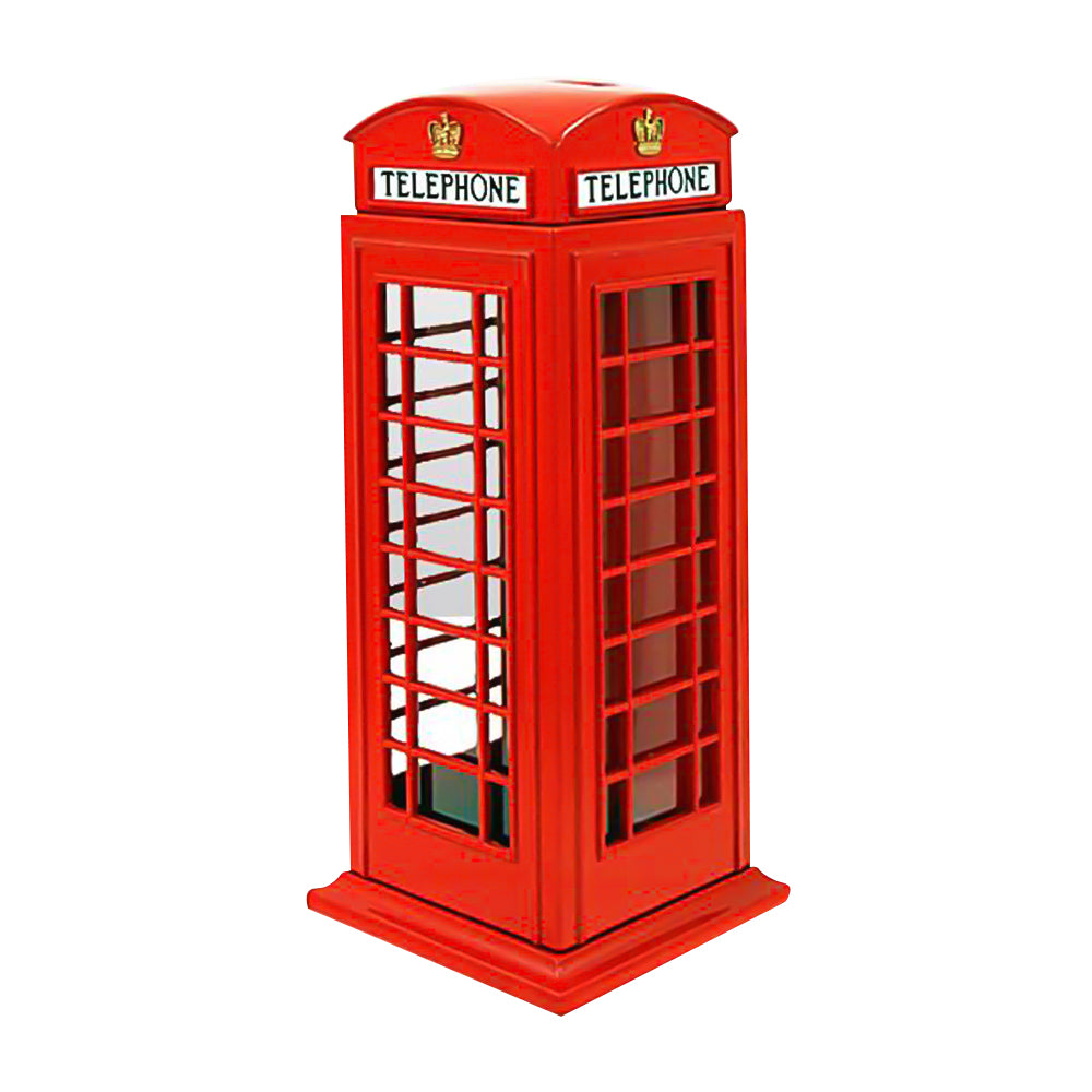 Telephone Booth Piggy Bank 15cm