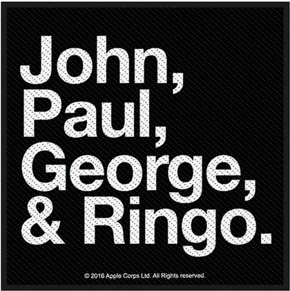 The Beatles Standard Patch: Jon, Paul, George & Ringo