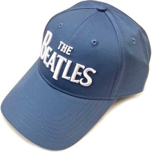 Load image into Gallery viewer, The Beatles Unisex Baseball Cap White Drop T Logo (Denim Blue)