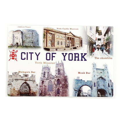 Tin Magnet City of York- britishsouvenirs