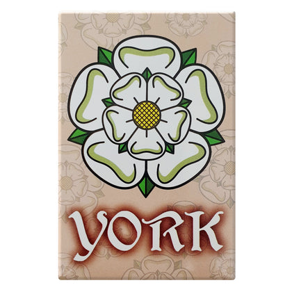 Tin magnet Yorkshire Rose