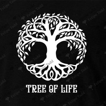 Tree Of Life T-Shirt -Black - Britishsouvenirs