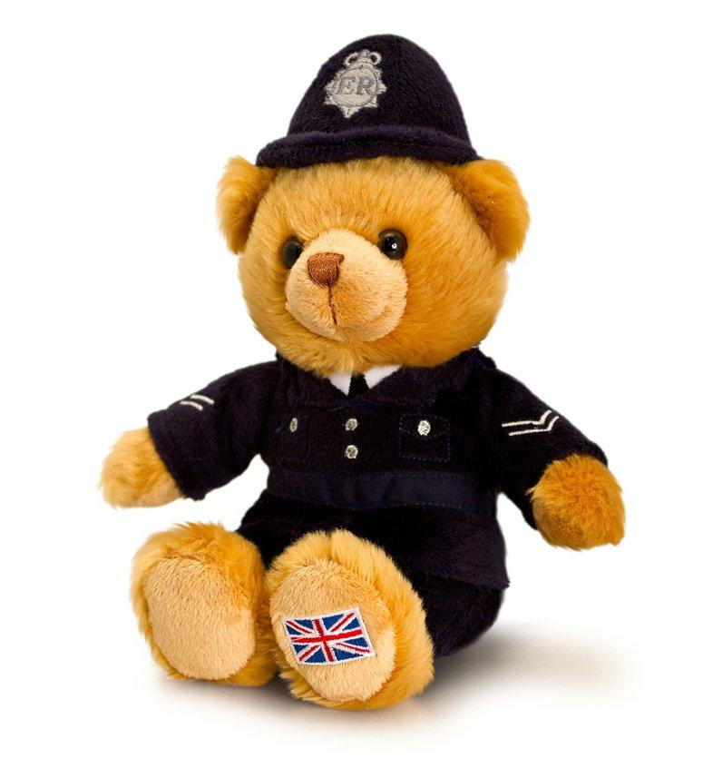 Policeman Bear Plush Toy- 25cm