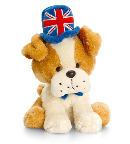 Bud Union Jack Bulldog Plush Toy- 14cm - Pridesouvenirs