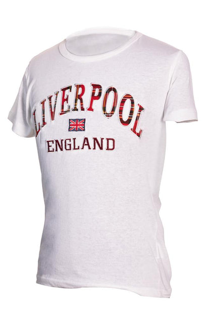 Liverpool Embroidered T-Shirt : White - Pridesouvenirs