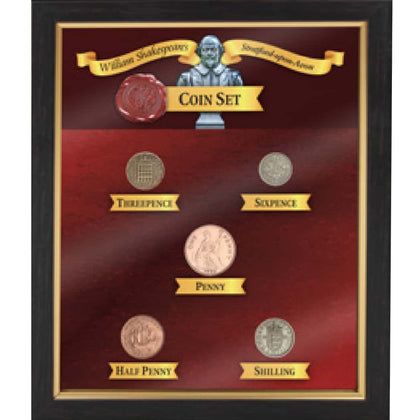 William Shakespeare 6 Pieces Coin Set - britishsouvenirs