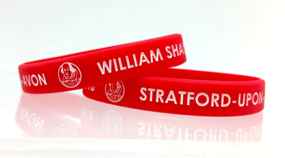 Wristband With Shakespeare Writing