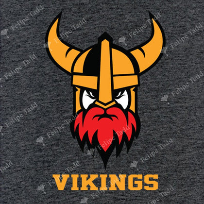 Viking Helmet embroidered T-shirt- Charcoal Melange -Britishsouvenirs