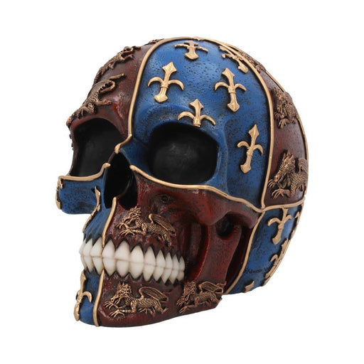 Medieval Skull English Heraldry Figurine