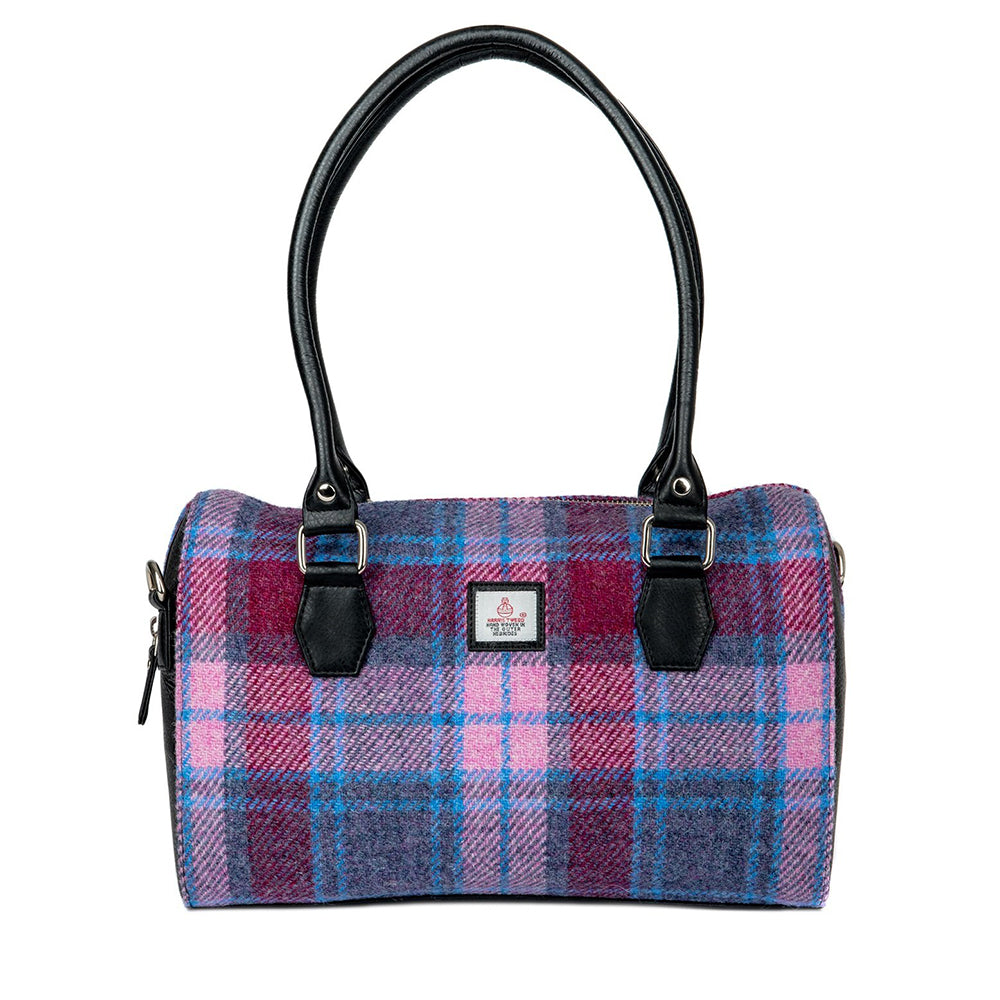 Harris Tweed Bowling Bag (Pastel Pink)