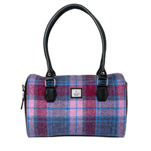 Load image into Gallery viewer, Harris Tweed Bowling Bag (Pastel Pink)