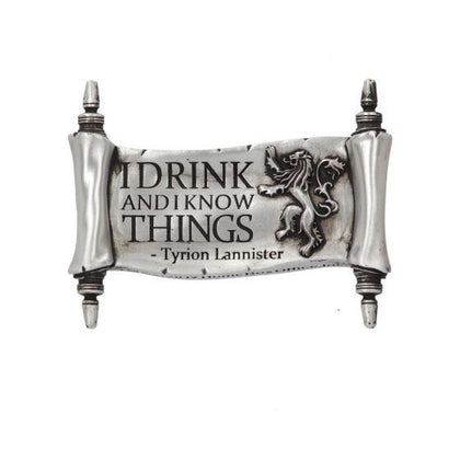 I Drink And I Know Things Magnet (GOT) 9cm - Britishsouvenir