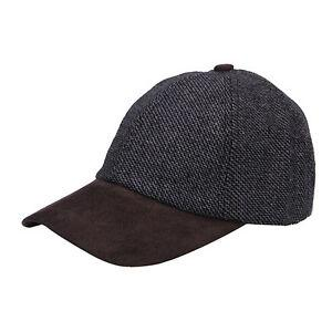 Tweed Suede Baseball cap Grey Twill - britishsouvenirs