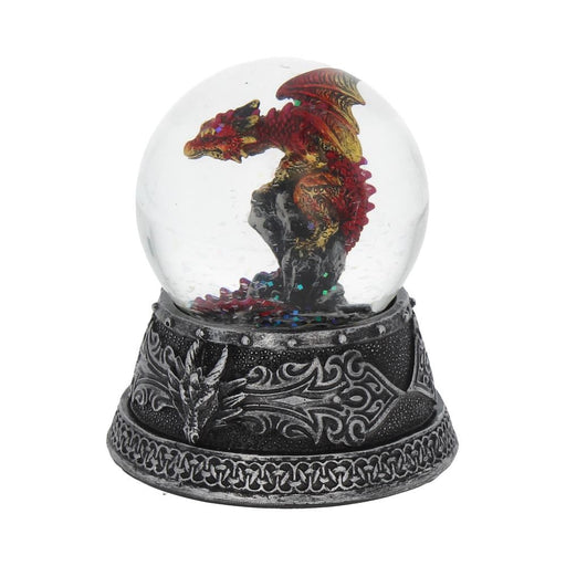 Enchanted Ruby Snow Globe 10cm
