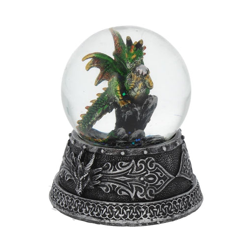 Enchanted Emerald Snow Globe 10cm