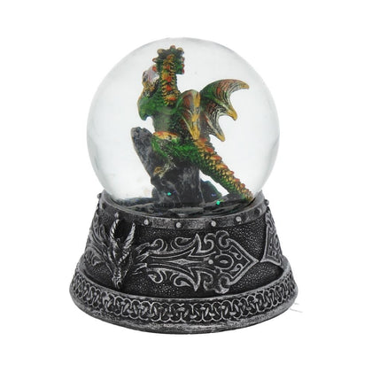 Enchanted Emerald Snow Globe 10cm - Pridesouvenir
