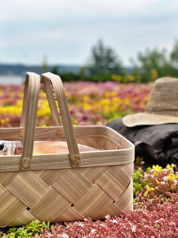 Handmade luxury picnic basket